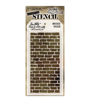 Stampers Anonymous Tim Holtz Layered Bricked Stencil
