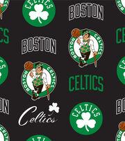 Boston Celtics NBA Tossed Print Fleece Fabric, , hi-res