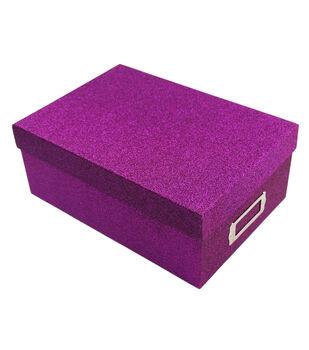 Purple Glitter Photo Storage Box
