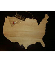 Fab Lab™ Unfinished Wood USA Map, , hi-res