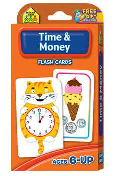 Flash Cards-Time & Money 50/Pkg