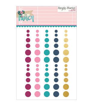 Simple Stories So Fancy 60pcs Enamel Dots Embellishments