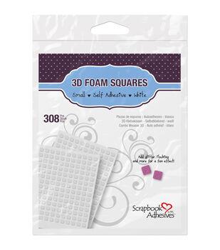 Scrapbook Adhesives 1/4''x1/4'' 3D Foam Squares-308PK/Black or White
