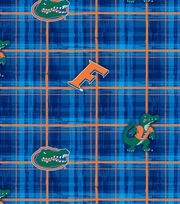 University of Florida NCAA Plaid Cotton Fabric, , hi-res
