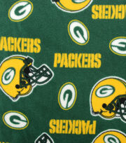 Green Bay Packers NFL Fleece Fabric by Fabric Traditions, , hi-res
