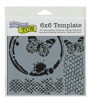 Crafter's Workshop Butterfly Collage Template 6''x6''