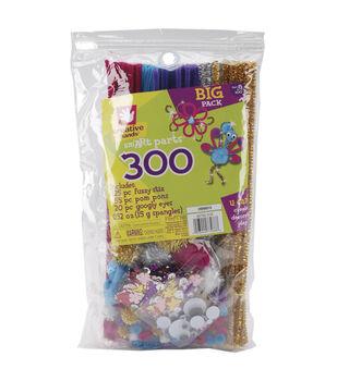 Fibre Craft Glitz Pom & Chenille Kit 300 Pieces