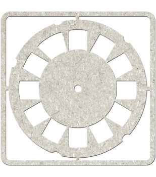 "Die-Cut Gray Chipboard embellishments-Viewing Disc, 4""X4"""