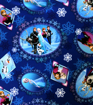 Disney Frozen Scenic Patch Twill Polyester Fabric