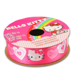 Hello Kitty Valentines Ribbon-Pink Solid Heart