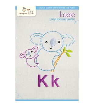 Penguin & Fish Embroidery Patterns-Koala