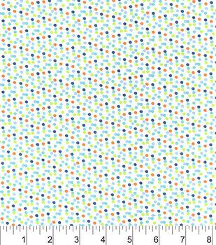 Nursery Cotton Fabric-Happy Jungle Multi Dot