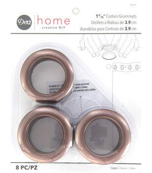 """Dritz Home 1.56"""" Curtain Grommets 8pcs Copper"""