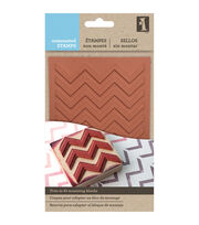 Inkadinkado Unmounted Rubber Stamps-Chevron, , hi-res