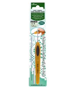 Clover-Soft Touch Steel Crochet Hook-Size 4 1.25mm