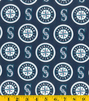 Seattle Mariners MLB Cotton Fabric, , hi-res