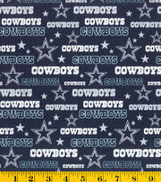 Dallas Cowboys NFL Glitter Cotton Fabric by Fabric Traditions, , hi-res