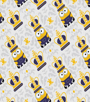 Minions Mini Damask Gray Cotton Fabric, , hi-res