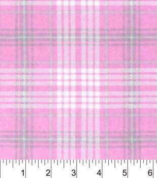Nursery Flannel Fabric-Madison Sweet Pink Plaid