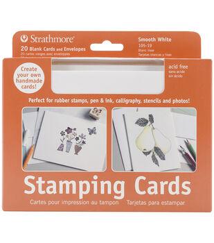 """Strathmore Cards & Envelopes 5'x7"""" 20/Pkg-Stamping"""