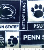 Penn State NCAA Block Fleece Fabric, , hi-res