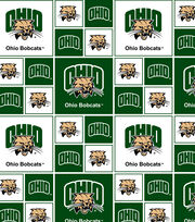 Ohio University NCAA Block Cotton Fabric, , hi-res