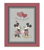 Disney® Mickey and Minnie Vintage No Sew Throw, , hi-res