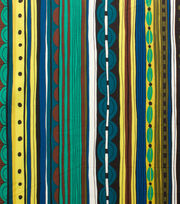Alexander Henry Cotton Fabric-Nyanza Stripe Safari Pool, , hi-res