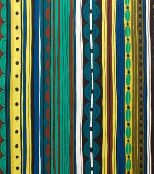 Alexander Henry Cotton Fabric-Nyanza Stripe Safari Pool