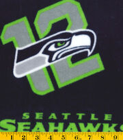 Seattle Seahawks NFL 12 Fleece Fabric by Fabric Traditions, , hi-res
