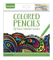 Crayola Colored Pencil Set 50/Pkg, , hi-res