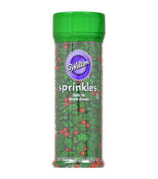 Wilton® Sprinkles 3.6oz-Holly Mix