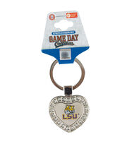 Louisiana State University NCAA Heart Keychain, , hi-res