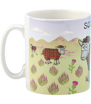 Vanessa Bee Designs Coffee Mug-Tartan Sheep