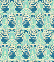 Minions Bob On Wave Blue Fleece Fabric, , hi-res