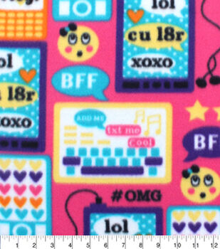 Blizzard Fleece Fabric-Tech Emoticon