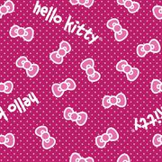 Sanrio Hello Kitty Classic Bow Fleece Fabric, , hi-res