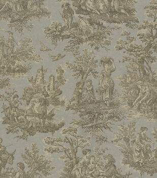 Waverly Upholstery Fabric-Artisanal Toile/Ironstone
