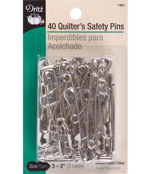 Prym Dritz Quilter's Safety Pins Nickel