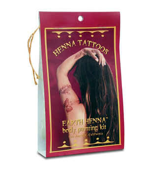Earth Henna Mini Body Painting Kit-Red
