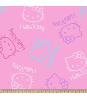 Sanrio Hello Kitty Faces Fleece Fabric, , hi-res