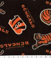 Cincinnatti Bengals NFL Fleece Fabric by Fabric Traditions, , hi-res
