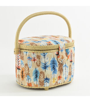 Fw21 Sew Basket Md Oval Feather