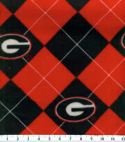 University of Georgia NCAA Argyle Fleece Fabric, , hi-res