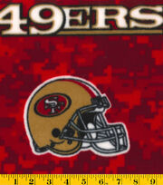 San Francisco 49ers NFL Digital Fleece Fabric by Fabric Traditions, , hi-res