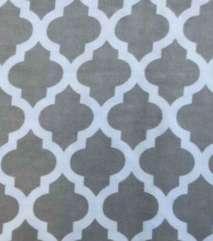 Snuggle Flannel Fabric Grey Moroccan