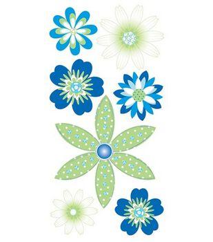 Dimensional Stickers-Sea Breeze Flowers