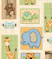 Nursery Fabric - Zippity Zoo Dah Patch Cotton, , hi-res