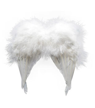 Maker's Halloween Infant Feather Angel Wings-White