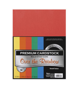 Core'dinations Value Pack Cardstock Primaries - 50pc - 8.5 x 11